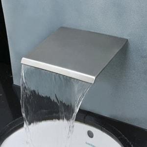 Aquafaucet wall mount brushed nickel