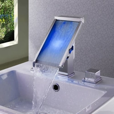 unique waterfall bathroom faucets