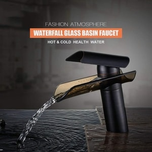Fchome glass bathroom sink faucet