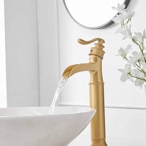 unique gold brass bathroom faucet