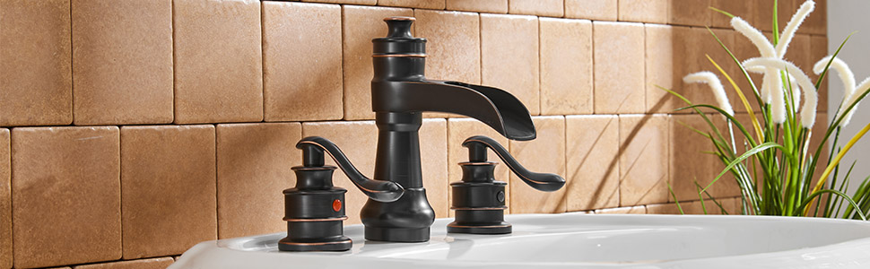 3 hole widespread bathroom faucet
