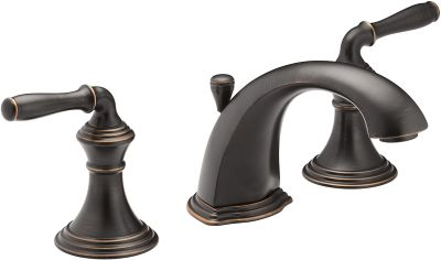 oil rubbed bronze widespread bathroom sink faucet