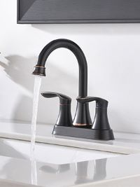rubbed oil bathroom faucet