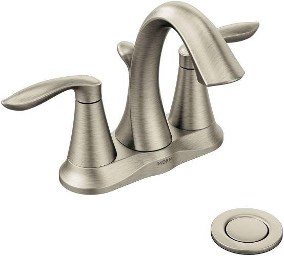 Moen Eva Two-Handle Centerset Bathroom Faucet for hard water
