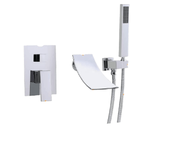 KunMai Wall Mounted Waterfall Faucet With Handheld Shower