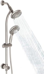 best multi shower head with slide bar