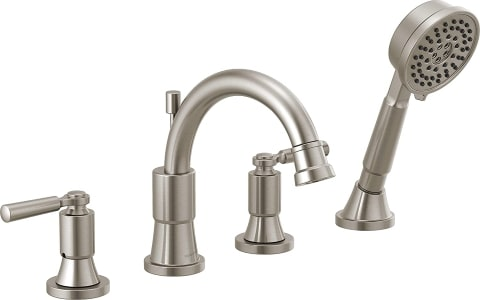 delta tub faucet with handheld shower