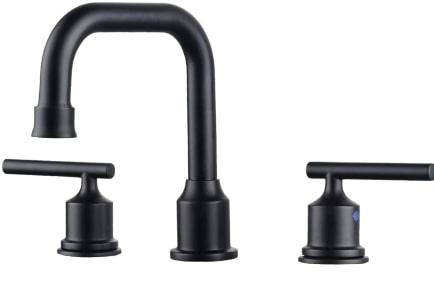 Wowow 2 Handle Black Widespread Bathroom Faucet