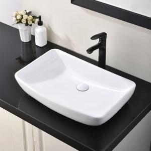 Hotis Rectangle Vessel Bathroom Sink