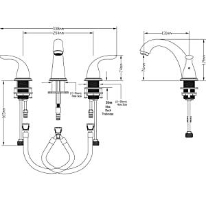Widespread faucet installation