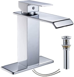 bathroom faucet with pop up drain
