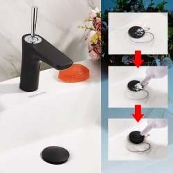 how to clean up bathroom faucet drain