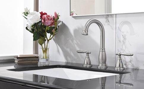 double handle widespread faucet
