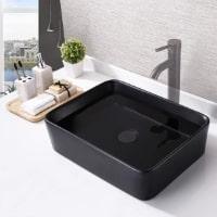 KES Rectangular Porcelain Bathroom Vessel Sink