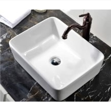 Vccucine Rectangular Bathroom Vessel Sink