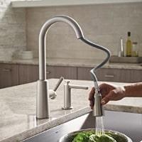 best kitchen faucet hose reach
