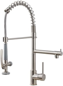 Fapully High Arc Pull Down Kitchen Faucet