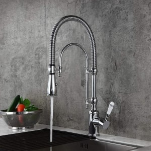 Kunmai Stainless Steel Kitchen Faucet With Pull Down Spray