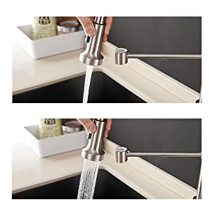 pull down kitchen faucet spray modes
