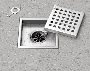 remove square shape shower drain with no screw